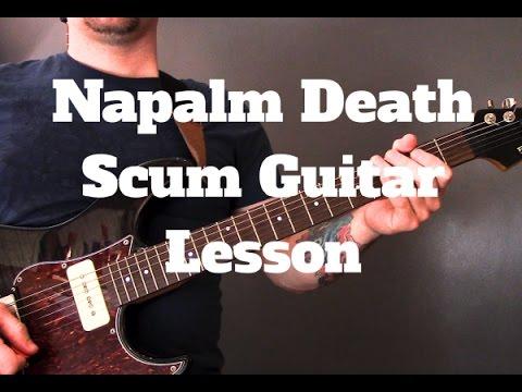 Napalm Death - Scum Guitar Lesson