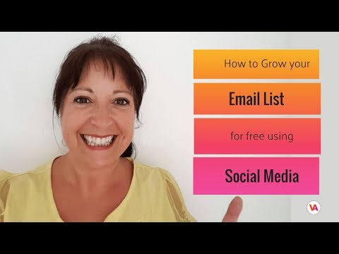 How to Grow your Email List on Social Media with MailChimp