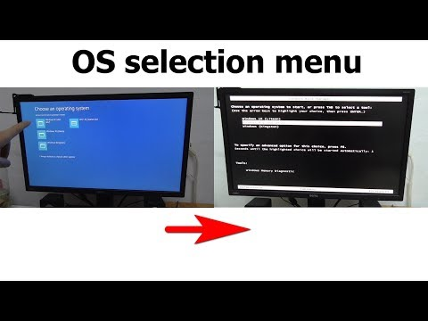 How to replace New Blue OS selection Menu with older Black Menu