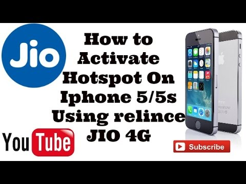 How to activate hotspot on iphone 5/5s using relince jio 4g
