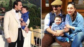 Taimur with mom Kareena & dad Saif Switzerland Holiday PHOTOS