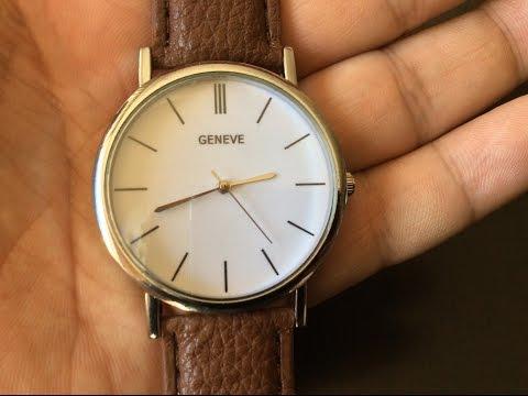 $10 clean, vintage white design quartz watch by Shensee