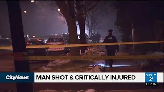 Man in life-threatening condition after Etobicoke shooting