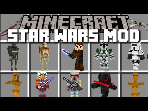Minecraft STAR WARS MOD / FIGHT AND SURVIVE DARTH VADER LIGHTSABERS!! Minecraft Mods