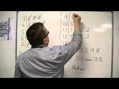 GCSE Maths from Scratch 10.06 Finding the Median from a Stem and Leaf Diagram