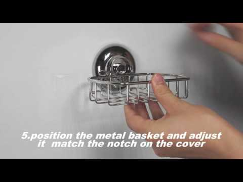 MaxHold suction cup soap basket installation instructions