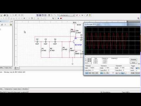 Simple Circuit Design of  RC Phase Shift OSCILLATOR Using Multisim