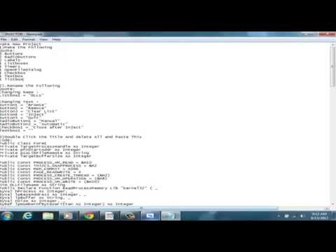 How To Make DLL Injector In Visual Basic 2010