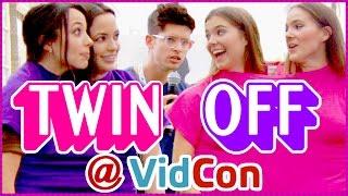 Twin Challenge Epic Rap Battle MerrellTwins vs. NinaAndRanda at VidCon