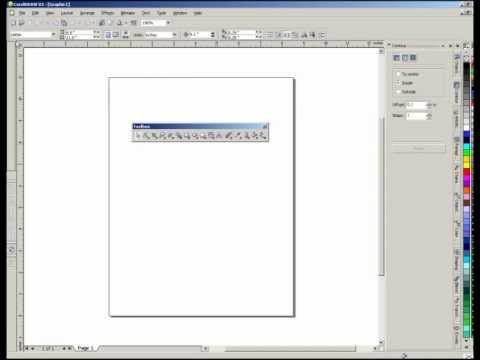 Working with Toolbars in CorelDraw