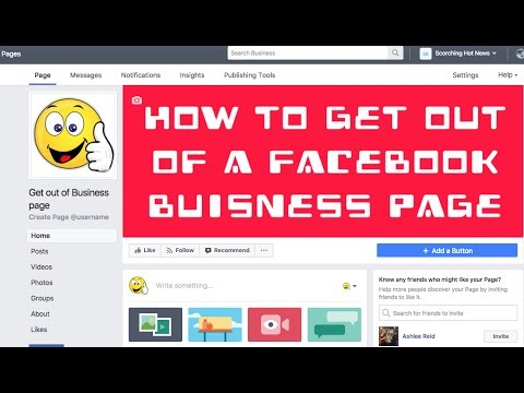 How to get out of a Facebook Business Page