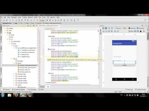 Develop Password protected app in Android Studio