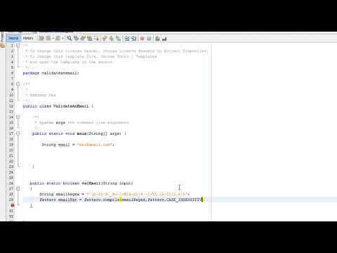 Java Validation: Validating an Email