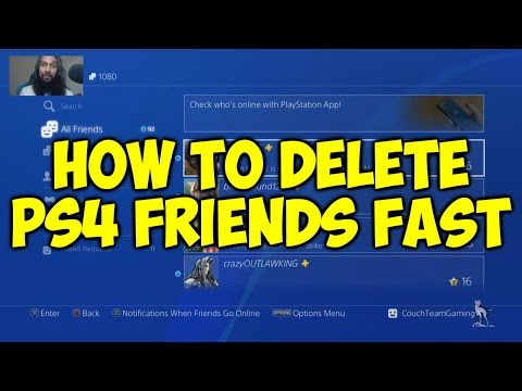 How To Delete Friends On PS4 Fast