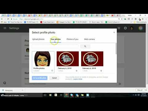 Adding a Picture to your profile in Google Classroom