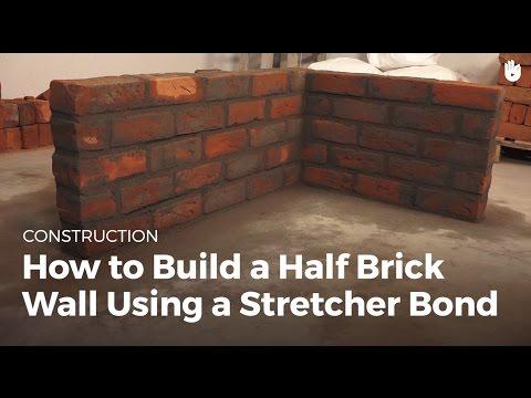 How to Build a Half Brick Wall Using a Stretcher Bond | Masonry