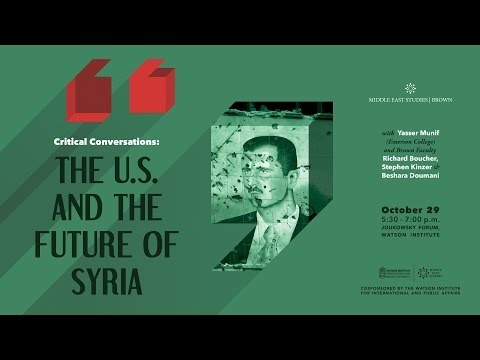 Critical Conversations: The U.S. and the Future of Syria