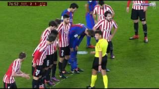 HD Lionel Messi SUPER Free Kick Goal  Barcelona vs Athletic Bilbao (3 - 1)  Copa del Rey 2017