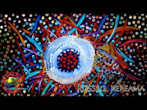 Art tips on How to Paint Contemporary Acrylic Art with Russell Kereama on Colour In Your Life