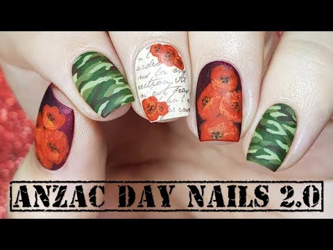 ANZAC Nails | Remembrance Day Nails 2.0