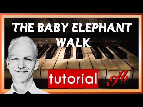 How to play Baby Elephant Walk (Hatari, by Henry Mancini) Piano tutorial, C