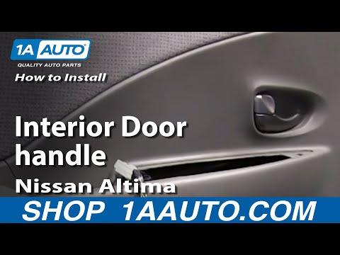 How To Install Replace Fix Broken Interior Door handle 2002-05 Nissan Altima