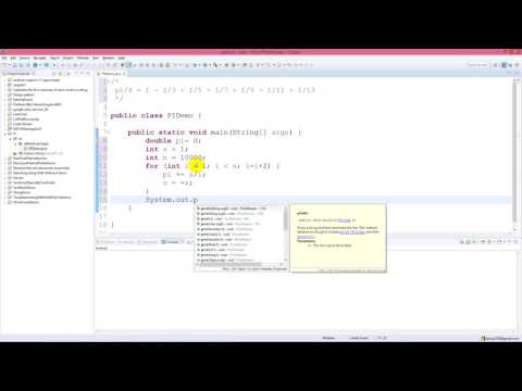 Shortest code to calculate Pi by Java