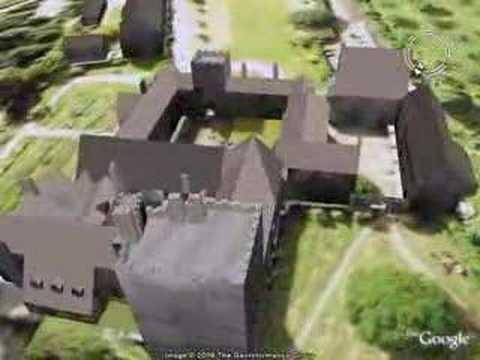 Cotehele House in 3D on Google Earth