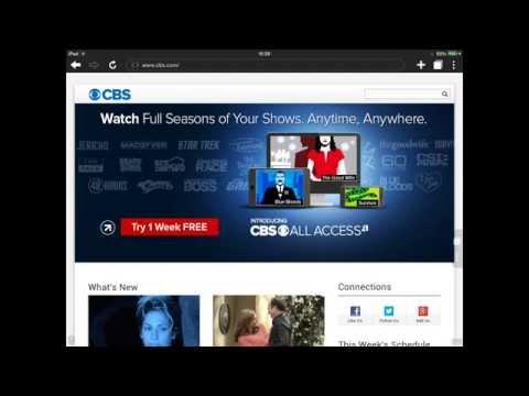 IOS IPAD,IPHONE,TRICK TO WATCH CBS,NBC NAT GEO IN THE U.K. OR IRELAND