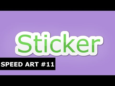Speed Art - Sticker Text Effect (GIMP)