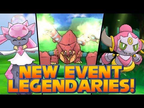 Pokémon X and Y - New Event Legendary Pokémon: Diancie, Hoopa and Volcanion