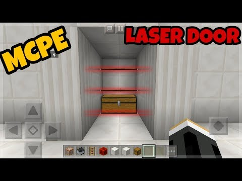 How to make a Laser Door in MCPE using Command Blocks