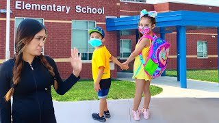 THE KIDS HAD TO GO BACK TO SCHOOL!! *SCARY* | Jancy Family