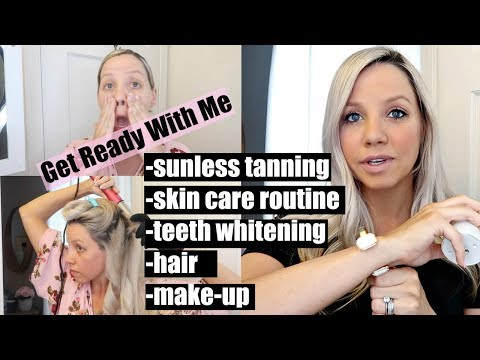 GRWM // SKIN CARE ROUTINE, SUNLESS TANNING, MAKE UP + HAIR // BEAUTY AND THE BEASTONS