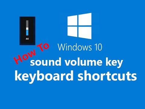 How to make keyboard shortcuts for volume up/down in windows 10
