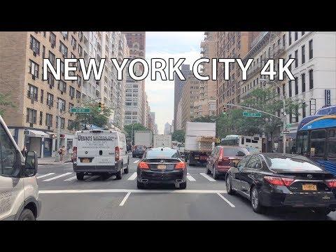 Driving Downtown - Manhattan Money 4K - New York City USA