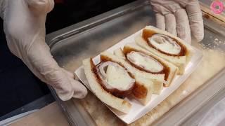 Download 부산 부평시장 | 멘치고로케 & 가츠샌드위치 | Minced Meat Croquette & Pork Cutlet Sandwich | 길거리음식 めんち かつ Video