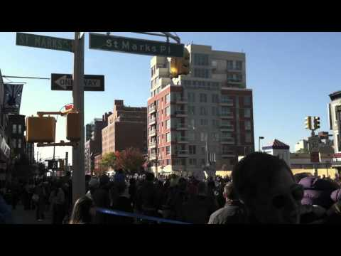 New York City Marathon 2011: Running Along 4th Ave. in Brooklyn