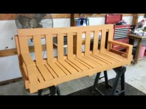 How to make pallet porch swing.  DIY. Homemade