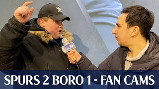 """I Don't Want To Sign Players That I Have To Google"" Tottenham 2 Middlesbrough 1 (FAN CAMS)"