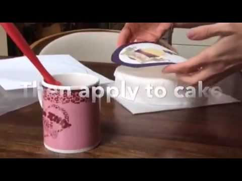 how to apply your cake topper