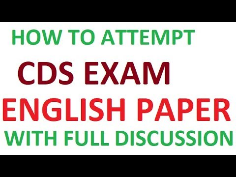HOW TO ATTEMPT CDS EXAM # ENGLISH PAPER