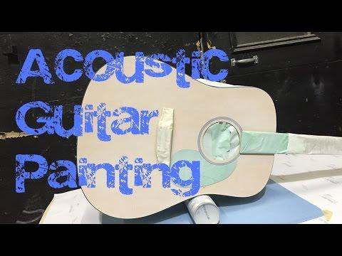 Acoustic Guitar Airbrush Job: Base Coat