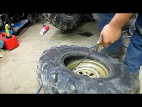 DIY- How to fix a flat atv tire easily