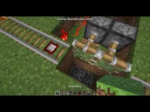 Minecraft: how to make a railway trap