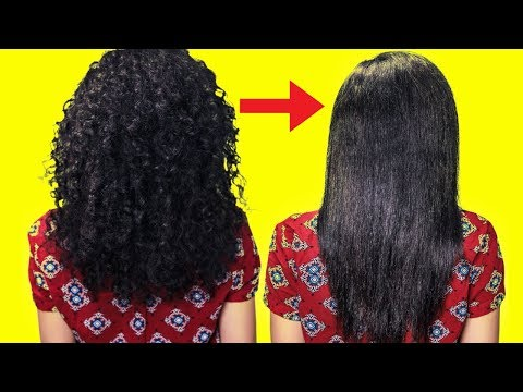 Permanent Hair Straightening At Home Using 100% Natural Ingredients - My Simple Remedies