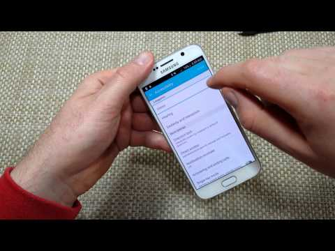 Samsung Galaxy S6 How to Disable Or Turn the TalkBack accessibility feature OFF
