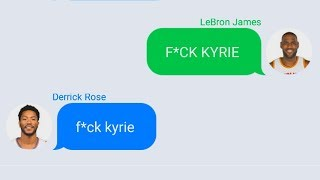 LeBron Texting Derrick Rose After Joining Cavaliers