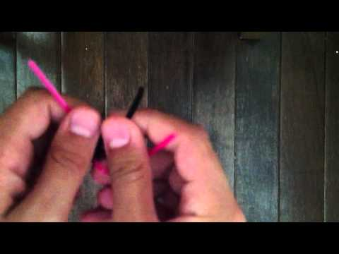 How to stitch lanyard out of plastic lace