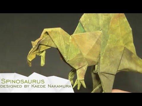 Origami Spinosaurus by Kaede Nakamura (Time- Lapse)